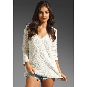 Free People Chunky Knit V-neck Sweater